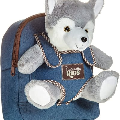 Naturally Kids backpack with wolf