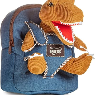 Naturally Kids backpack with dinosaur