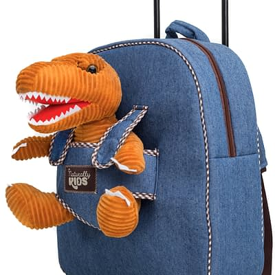 Kds' Backpack / Trolley Bag by Naturally Kids with T-Rex Dinosaur by Naturally KIDS